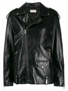 Saint Laurent oversized biker jacket - Black