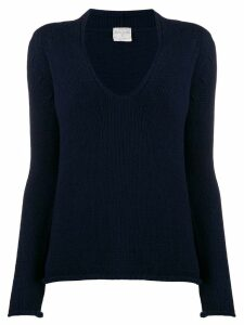 Forte Forte long-sleeved U-neck jumper - Blue