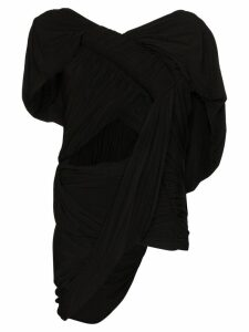 Rick Owens draped cutout top - Black