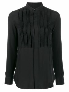 Saint Laurent front pleats blouse - Black