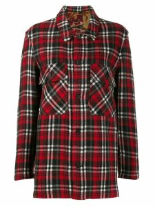 Pierre-Louis Mascia checked flannel shirt - Red