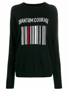 Quantum Courage barcode logo jumper - Black