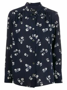 A.P.C. floral print shirt - Blue