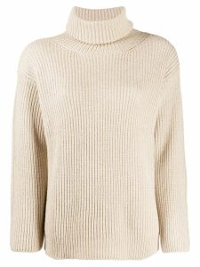 RedValentino turtleneck ribbed jumper - NEUTRALS
