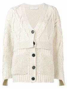 Victoria Beckham oversized chunky cardigan - White