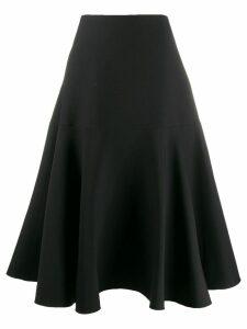 Valentino A-line paneled skirt - Black