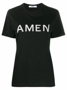 Amen logo print T-shirt - Black
