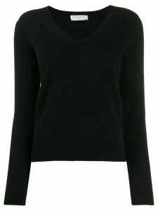 Majestic Filatures knitted V neck jumper - Black