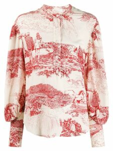 Chloé printed blouse - White