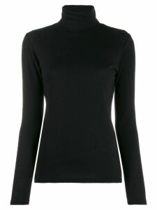 Majestic Filatures turtle neck knitted top - Black