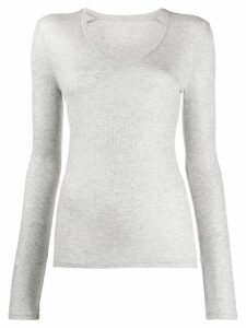 Majestic Filatures ribbed jersey top - Grey
