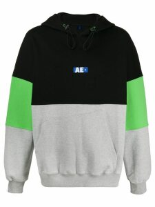 Ader Error colour block hoodie - Black