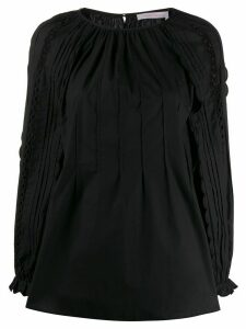See By Chloé perforated sleeve blouse - Black