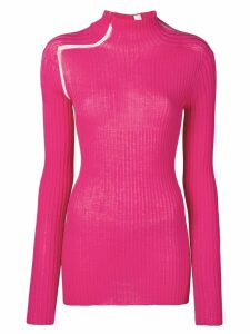 Victoria Beckham ladder detail ribbed top - PINK