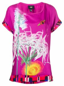 Cavalli Class printed short-sleeved blouse - PINK