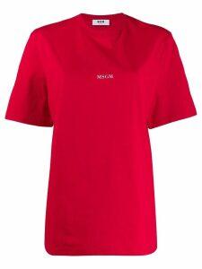 MSGM logo print T-shirt - Red