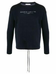 Société Anonyme stitched logo jumper - Blue