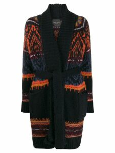 Roberto Collina patterned knit cardigan - Blue