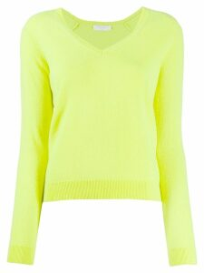 Majestic Filatures knitted v neck jumper - Yellow