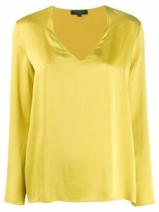 Antonelli v-neck silk top - Green