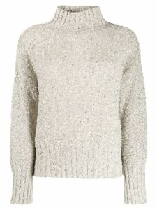 Snobby Sheep mottled sequin knit jumper - White