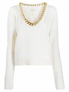 Bottega Veneta chain neck jumper - White