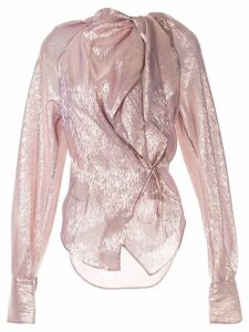 Petar Petrov Betsy metallic wrapped blouse - PURPLE