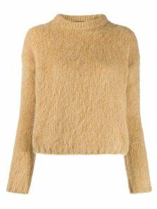 Erika Cavallini textured knit sweater - Brown
