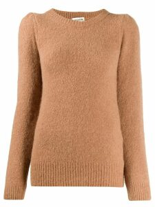 Semicouture round neck jumper - Brown