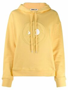 McQ Alexander McQueen embossed detail hoodie - Yellow