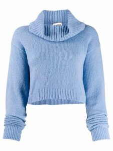 Semicouture wide-neck sweater - Blue