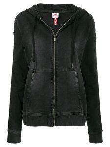Kappa Omini logo denim hoodie - Black