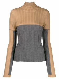 Lorena Antoniazzi two toned superfine cashmere sweater - Brown