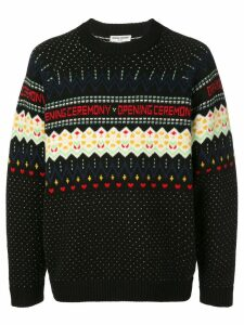 Opening Ceremony long-sleeve fairisle jumper - Black