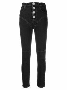 Alessandra Rich cropped skinny jeans - Black