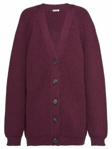 Miu Miu Shaker knit wool cardigan - Red