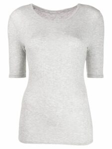 Majestic Filatures round neck ribbed T-shirt - Grey