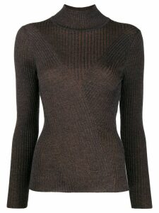 Lorena Antoniazzi ribbed turtleneck jumper - Grey