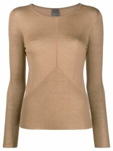 Lorena Antoniazzi cashmere boat neck jumper - Brown