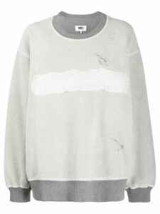 Mm6 Maison Margiela reversed logo sweatshirt - Grey