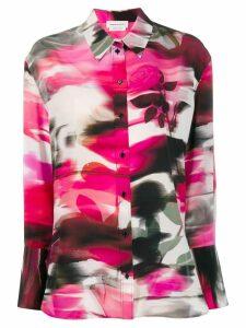 Alexander McQueen floral print shirt - PINK