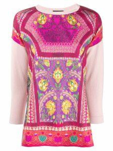Etro floral print sweatshirt - PINK