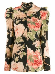 Zimmermann floral print blouse - Black