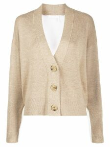 See By Chloé button up bi-colour cardigan - Neutrals