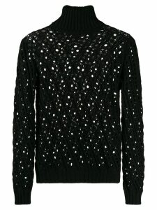 Philosophy Di Lorenzo Serafini crochet detail jumper - Black