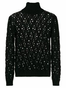 Philosophy Di Lorenzo Serafini crochet detail jumper - Black