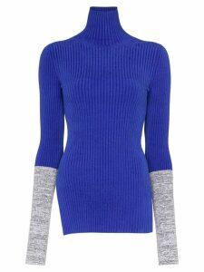 Moncler 1952 colour-block turtleneck jumper - Blue