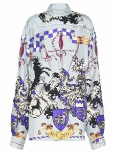 Miu Miu sword-print blouse - Grey