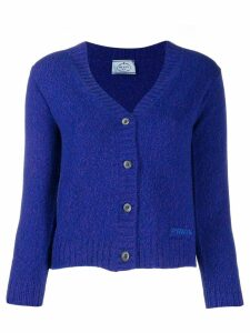 Prada classic knitted cardigan - Blue