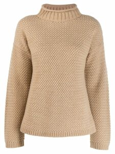 Theory funnel neck sweater - NEUTRALS